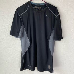 Nike Pro Combat Dri Fit Fitted Tee Shirt